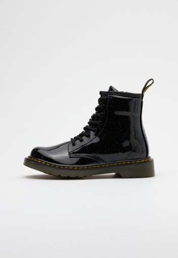 1460 GLITTER - Lace-up ankle boots - black