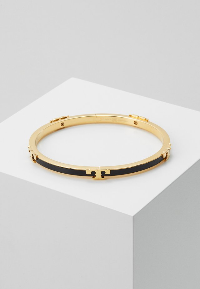 SERIF STACKABLE BRACELET - Bracciale - gold-coloured/black
