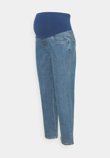 MATERNITY STRETCH MOM - Straight leg jeans - coogee blue