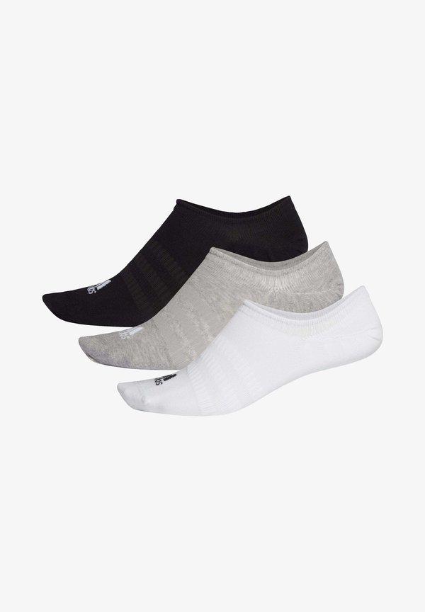 adidas Performance LIGHT NO-SHOW NO SHOW 3 PAIR PACK - Stopki - grey/szary Odzież Męska LZRU