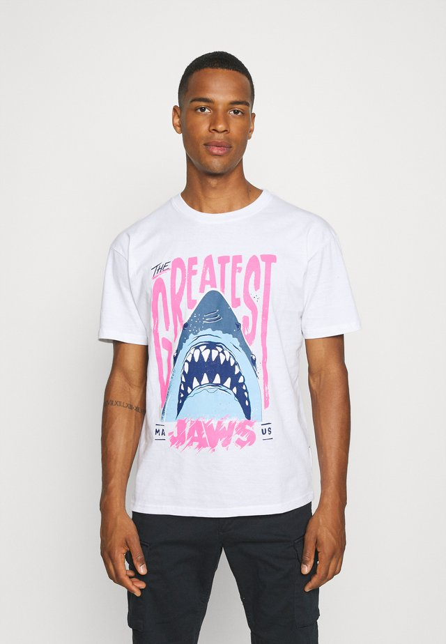 JAWS - T-shirt print - white
