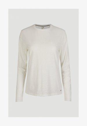 Long sleeved top - powder white