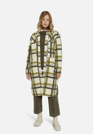 Classic coat - military green print