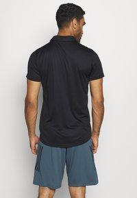 adidas Performance - TRAINING SPORTS SHORT SLEEVE  - Sports shirt - black/white - 2