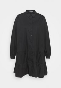 Missguided Plus - TIERED SMOCK DRESS - Robe chemise - black - 0