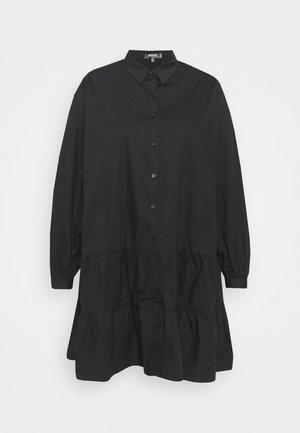 TIERED SMOCK DRESS - Košilové šaty - black