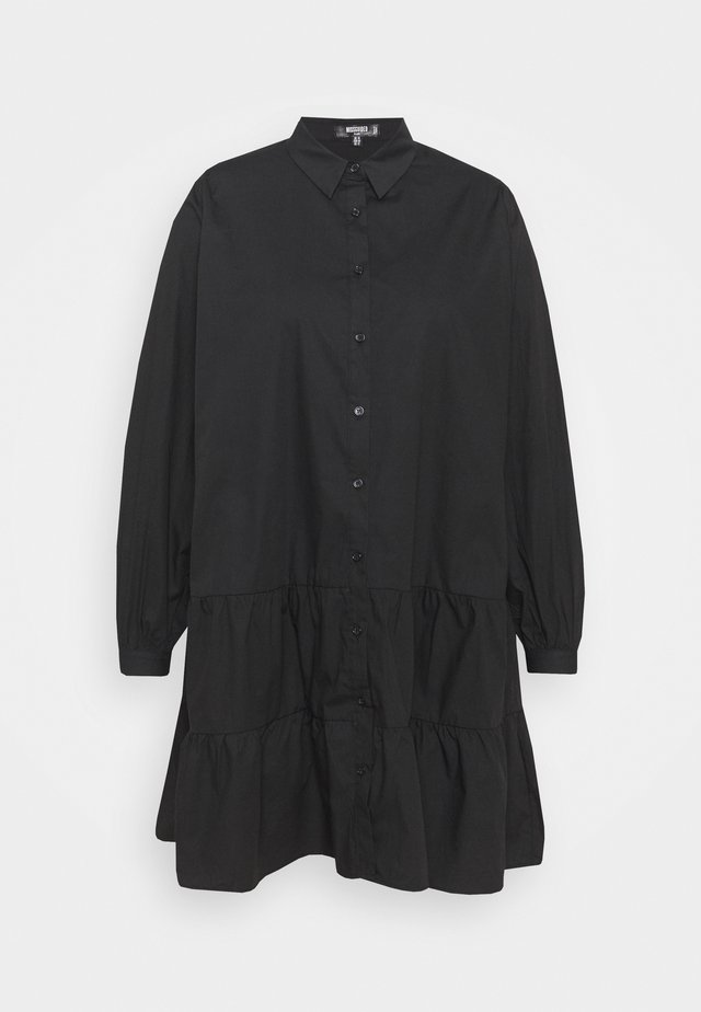 TIERED SMOCK DRESS - Skjortekjole - black