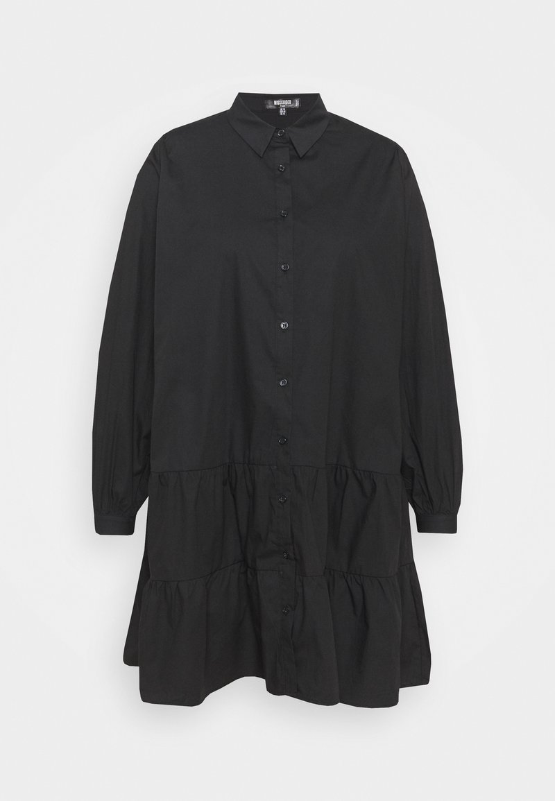 Missguided Plus - TIERED SMOCK DRESS - Robe chemise - black