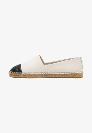 FLAT - Loafers - ivory/black