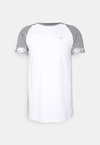 SCOPE TAPE TECH TEE - Print T-shirt - grey marl/white