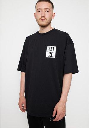 LETTER - T-shirt med print - black