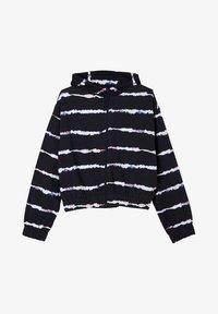s.Oliver - Hoodie met rits - navy stripes - 0