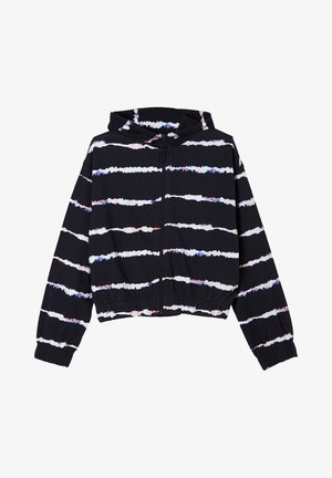 Zip-up hoodie - navy stripes