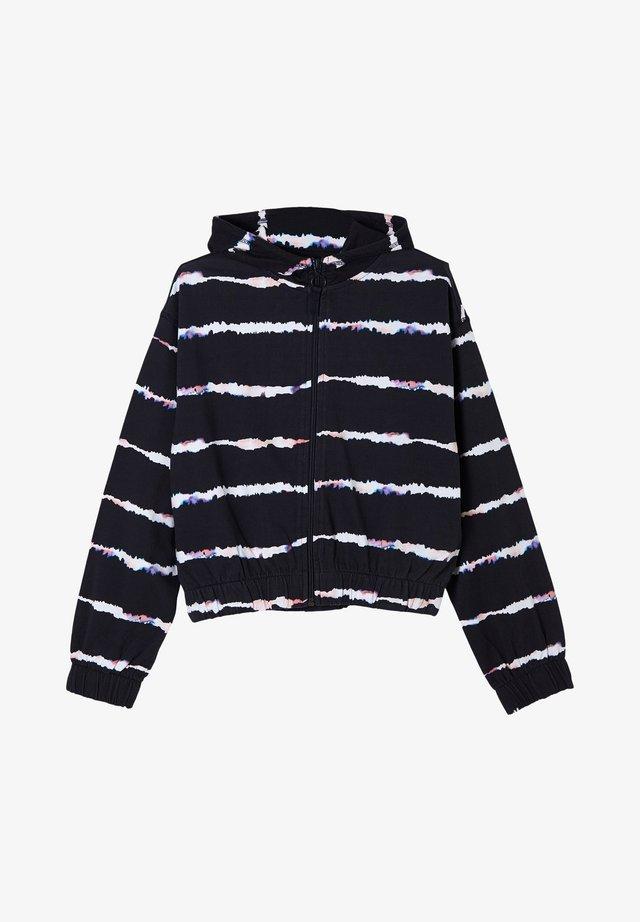 Hoodie met rits - navy stripes