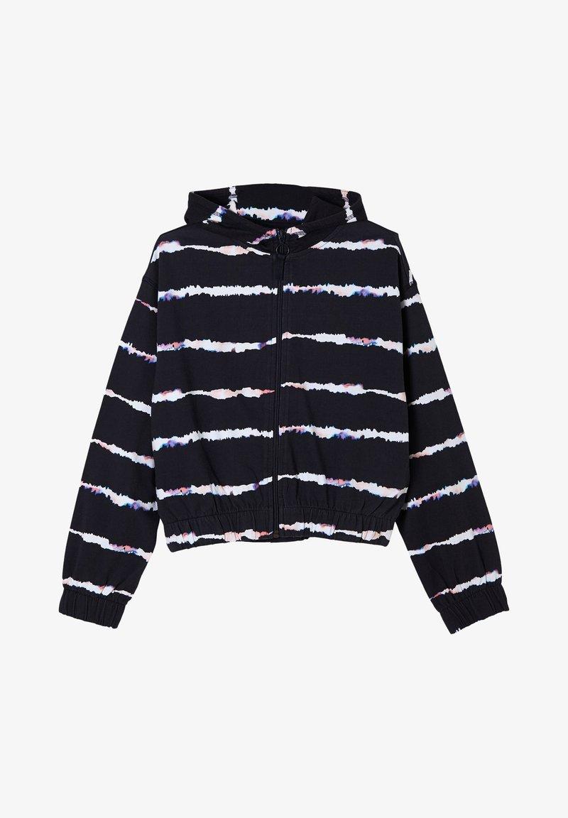 s.Oliver - Hoodie met rits - navy stripes