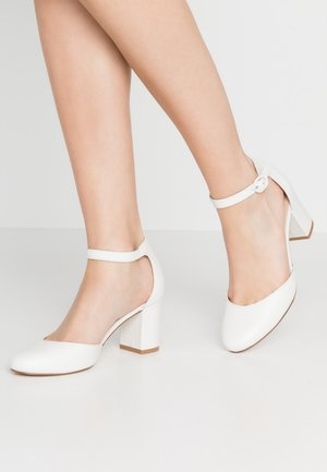 LEATHER CLASSIC HEELS - Classic heels - white