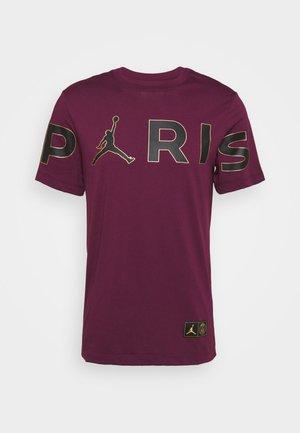PARIS ST GERMAIN WORDMARK TEE - Print T-shirt - bordeaux