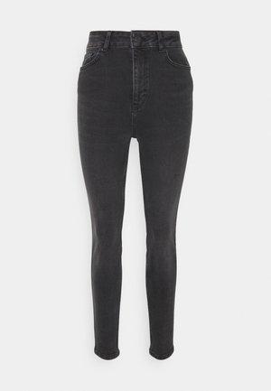OBJANIA HARPER - Jeans Skinny Fit - black denim