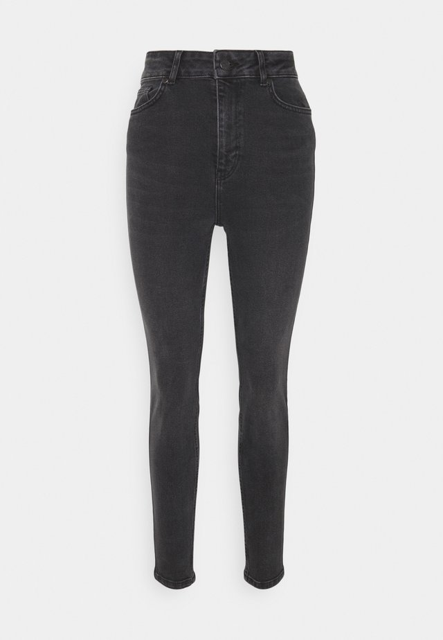 OBJANIA HARPER - Jeans Skinny Fit - black denim