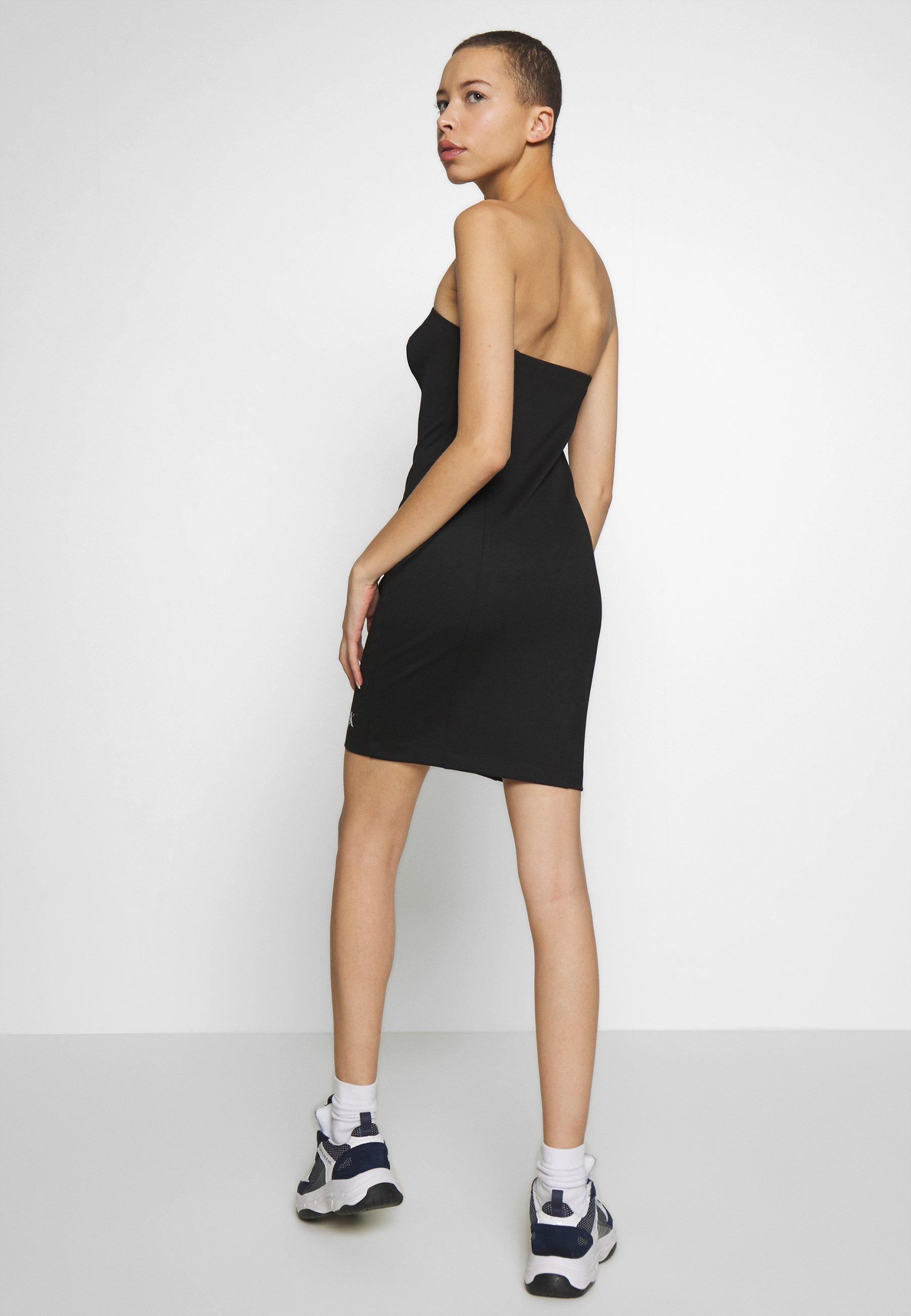 Calvin Klein Jeans Institutional Logo Tube Dress - Jerseyjurk Ck Black