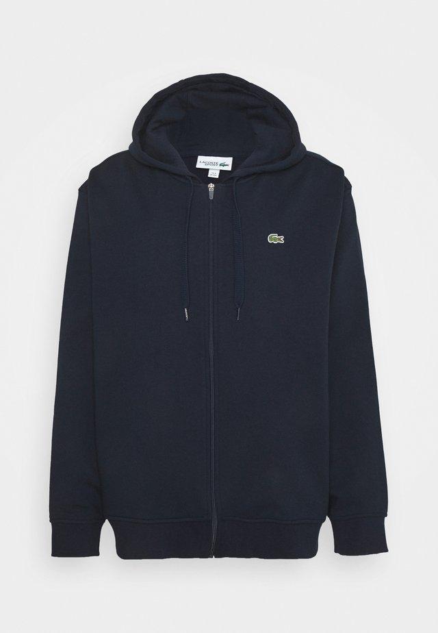 Zip-up sweatshirt - marine