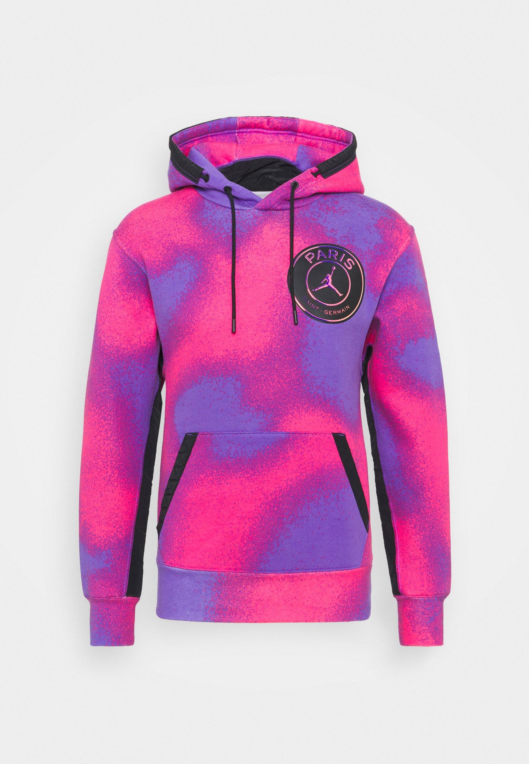 JORDAN PARIS ST GERMAIN - Felpa con cappuccio - psychic purple/hyper pink/black