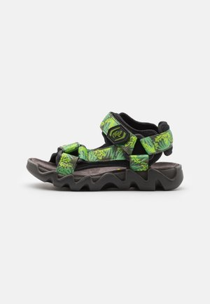 OLLY - Sandals - black/green