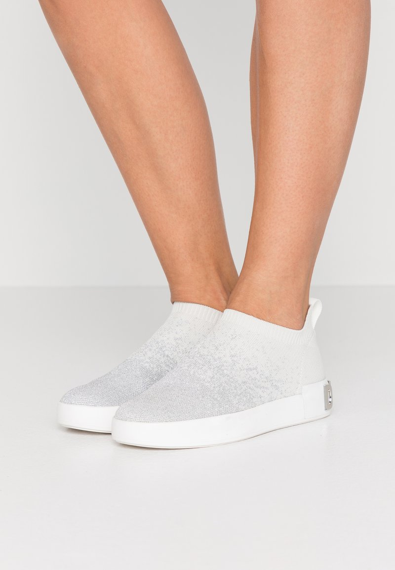 DKNY - SAYDA SOCK  - Slip-ons - silver/white