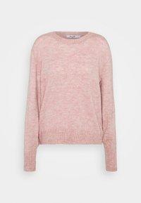 ROUND NECK - Jumper - pink melange