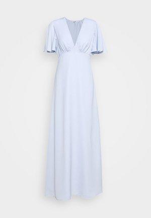 ZALANDO X NA-KD V NECK FLOWY DRESS - Ballkjole - dusty blue