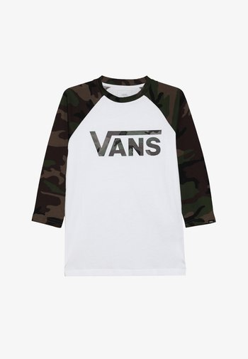 BY VANS CLASSIC RAGLAN BOYS - Long sleeved top - white