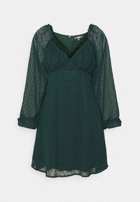 Missguided Tall - MILKMAID SKATER DRESS DOBBY - Day dress - dark green - 4