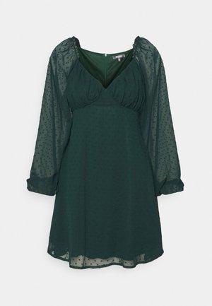 MILKMAID SKATER DRESS DOBBY - Kjole - dark green