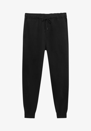 MIT ELASTISCHEM - Teplákové kalhoty - black