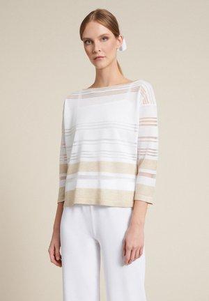 CAIFA          - Blouse - bianco/var beige/bianco