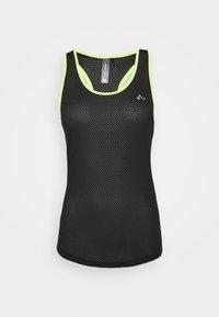ONPJACEI TRAINING - Sports shirt - black/safety yellow