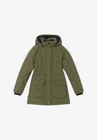 TrollKids - GIRLS ALESUND COAT - Down coat - khaki green - 4