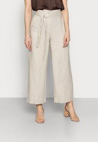 Esprit - PANT WIDE LEG - Trousers - sand - 0