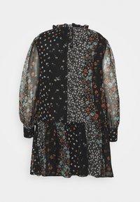 Simply Be - HIGH NECK SHEER SLEEVE SMOCK DRESS - Denní šaty - black - 1