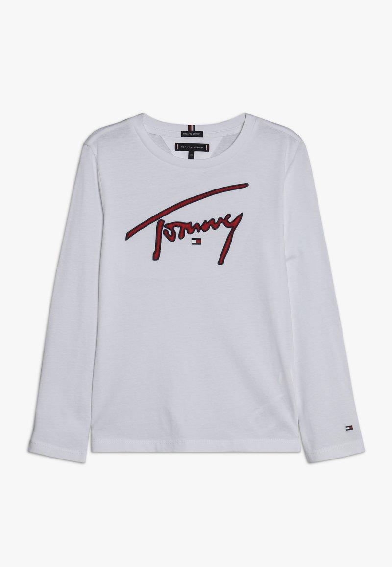 Tommy Hilfiger - SIGNATURE TEE - Langarmshirt - white