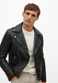 Mango - PERFECT - Leather jacket - schwarz - 0