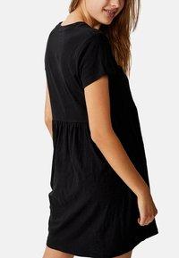 Cotton On Curve - TINA BABYDOLL  - Jersey dress - black - 4