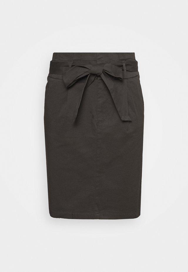 VMEVA PAPERBAG SKIRT TALL - Falda de tubo - phantom