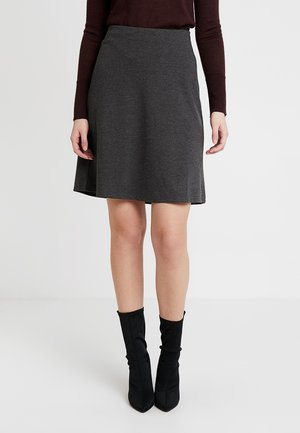 A-line skirt - dark grey melange