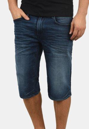 DENON - Denim shorts - denim dark