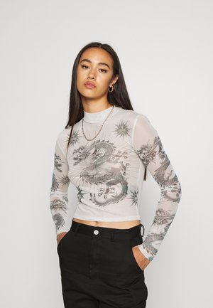 DRAGON FUNNEL - Long sleeved top - green