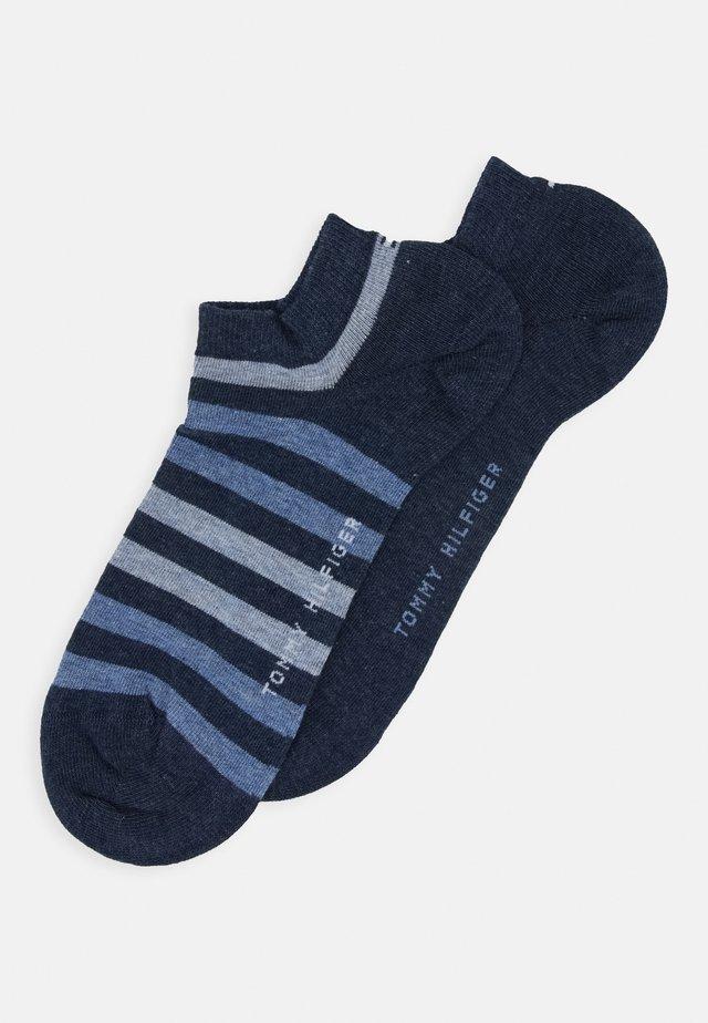 MEN DUO STRIPE SNEAKER 2 PACK - Trainer socks - blue denim