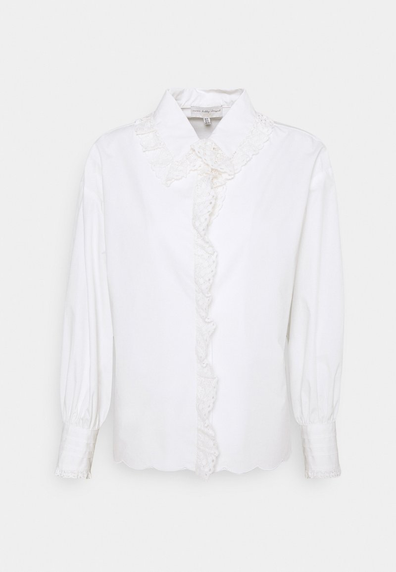 Never Fully Dressed Petite - BOXY LACE  - Blouse - white