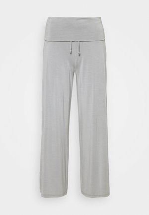 PANTALONE PALAZZO - Pantalon de survêtement - grey melange