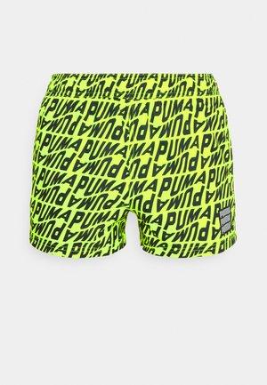 SWIM MEN WAVE - Swimming shorts - fluor yellow/grey